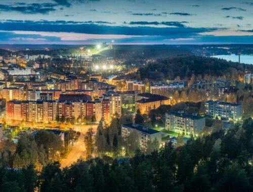 widok na Lahti